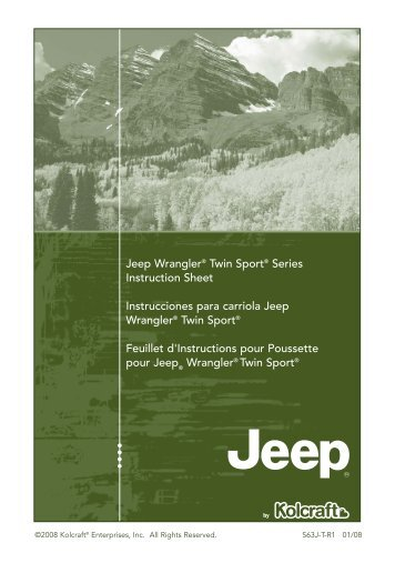 Jeep Wrangler® Twin Sport® Series Instruction Sheet ... - Kolcraft