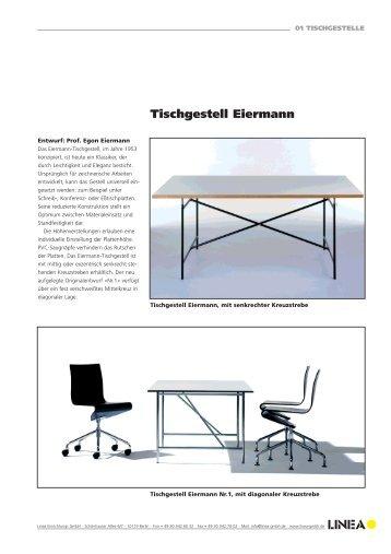 Tischgestell Eiermann - Linea
