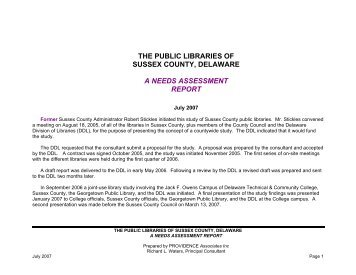The public libraries of sussex county, delaware a