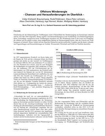 Offshore Windenergie - Chancen und Herausforderungen ... - Lineas