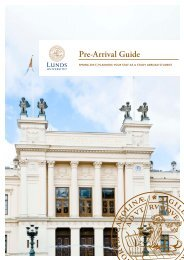 Study abroad student - spring 2013 pre-arrival guide - Lund University