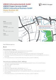 LINEAS Informationstechnik GmbH LINEAS Project Services GmbH ...