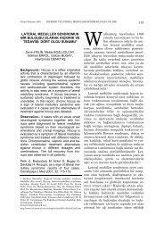 dört olgu sunumu* 115 - Cerrahpaşa Tıp Fakültesi
