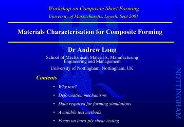 Keynote: Andrew Long - Mechanical Engineering
