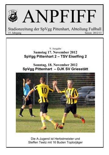 Stadionzeitung der SpVgg Pittenhart, Abteilung Fußball