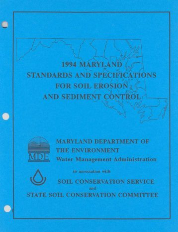 1994 MD Standards and Specifications for Soil Erosion - Maryland ...