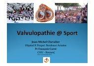 valvulopathie et sport - Club des Cardiologues du Sport