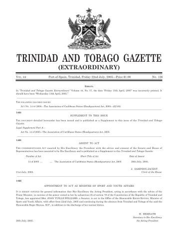 pollution in trinidad and tobago Environmental degradation remains a major issue for trinidad and tobago   widespread pollution of its waterways and coastal areas, illegal dumping,.