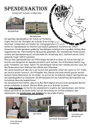 Spendenaktion - Albert-Schweitzer-Schule