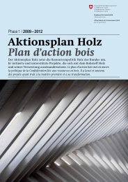 Plan d'action bois Aktionsplan Holz - admin.ch