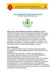 Was ist das Lokale Bündnis für Familien im - Weimarer Land
