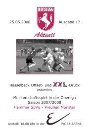 HSV-Heft Nr.17 - Hammer Spielvereinigung