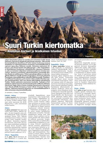 Suuri Turkin kiertomatka - Olympia Kaukomatkatoimisto