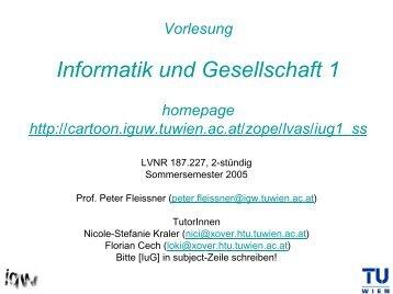 Information - Institut für Gestaltungs- und Wirkungsforschung