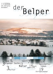 November 2006 - Der Belper