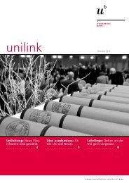 unilink Dezember 2010 - Abteilung Kommunikation - Universität Bern