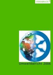 Umweltbericht 2006, 116 Seiten (3.5 MB) - Stadt Osnabrück