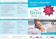 Download Flyer mit Hallenplänen und Ausstellerliste - Die Beste Zeit
