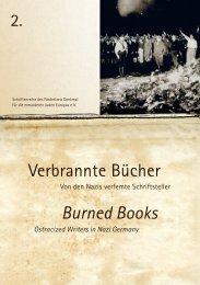 Verbrannte Bücher Burned Books - Jan Frontzek Kulturmanagement