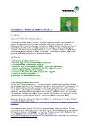 Newsletter des Odenwald-Instituts 06/2011