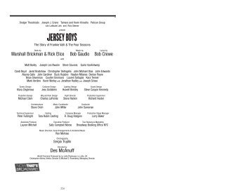 Jersey Boys Final.pdf - Fox Cities Performing Arts Center