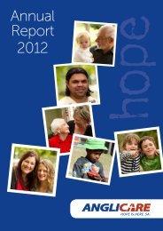 Annual Report 2012 - Anglicare SA