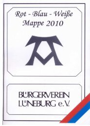 Rot-Blau-Weiße Mappe 2010 - Bürgerverein-Lüneburg