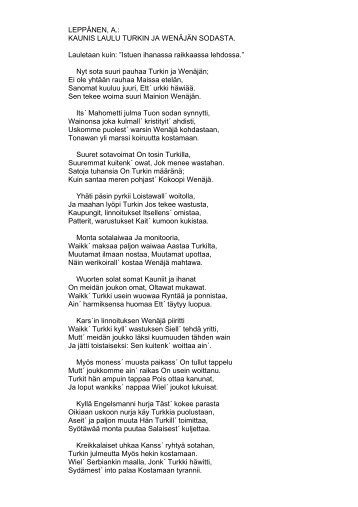 suru-laulu tapaturmasta, joka tapahtui warjakan retill 18 - Oulu