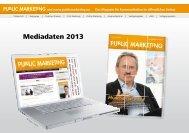 Public Marketing Mediadaten 2013 - New Business Verlag
