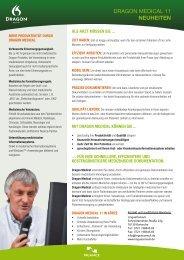 DRAGON MEDICAL 11 NEUHEITEN - LinguaConsult