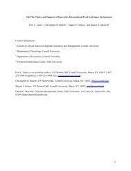 Choice and Impacts of Innovative International - Department of ...