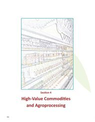 High-Value Commodities and Agroprocessing - International ...