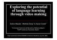 Exploring the potential of language learning through video making