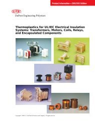 Thermoplastics for UL/IEC Electrical Insulation Systems ...