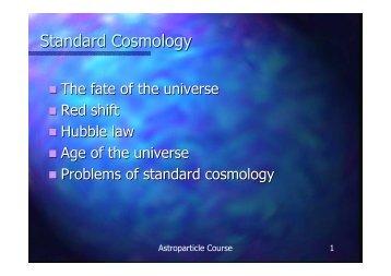 Standard Cosmology - Infn