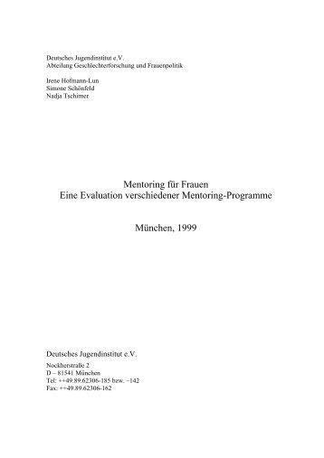 Mentoring für Frauen Eine Evaluation verschiedener Mentoring ...