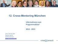 12. Cross-Mentoring München in Kürze (Präsentation) - Cross Consult