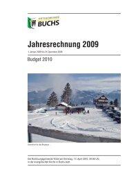Jahresrechnung 2009 - Ortsgemeinde Buchs