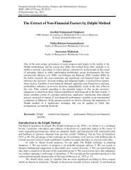 The Extract of Non-Financial Factors by Delphi Method - EuroJournals
