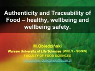 Authenticity and Traceability of Food = healthy, wellbeing and