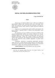 sosyal yapı özelliklerinin spora etkisi - Uludağ Üniversitesi