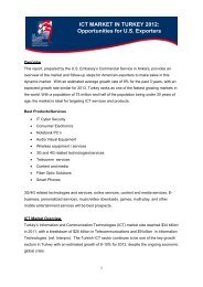 ICT MARKET IN TURKEY 2012: Opportunities for U.S. ... - Export.gov