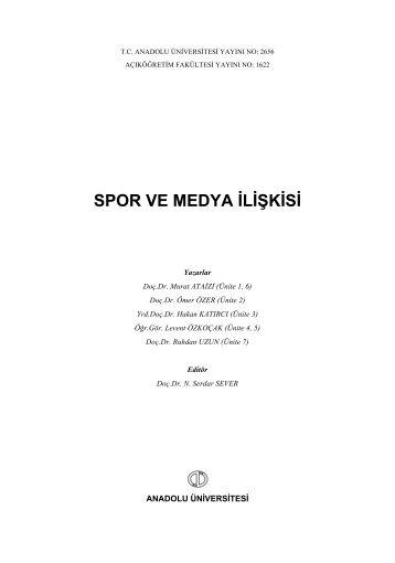 spor ve medya ilişkisi - Açıköğretim e-Öğrenme Portalı - Anadolu ...