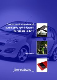 Global Market Review Of Automotive Roof Systems - Just-Auto.com