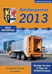 Abfallwegweiser 2013 - Landkreis Tirschenreuth