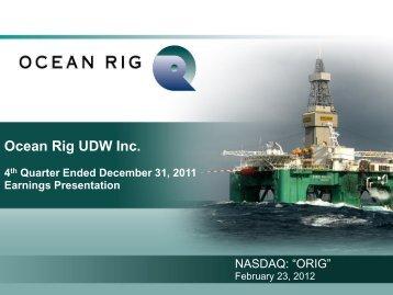 Ocean Rig UDW Inc. - ocean-rig.irwebpa...
