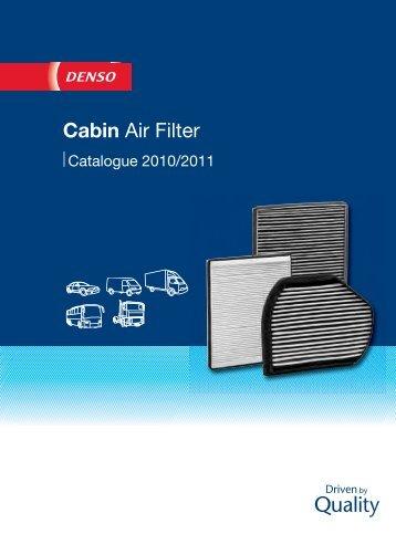 Katalog filtrów kabinowych DENSO - Motointegrator.pl