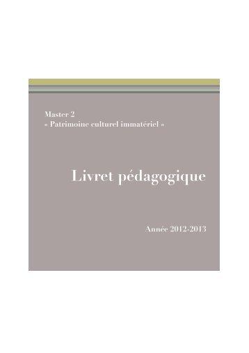Master 2 Patrimoine culturel immatériel - Centre d'Études ...