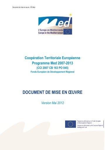 document de mise en ouevre - Programme Med