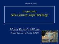 Maria Rosaria Milana, Istituto Superiore di Sanità - Salone della ...